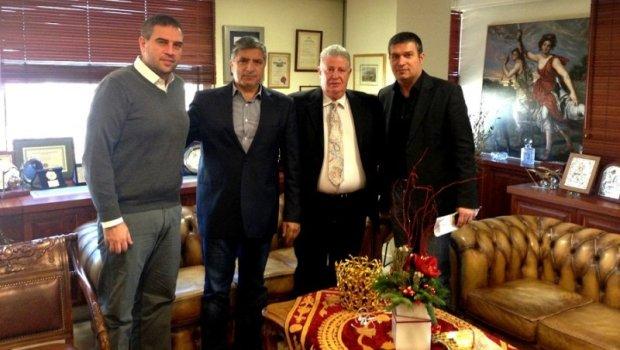 Συνάντηση Μιχαλιαρά με Δήμαρχο Αμαρουσίου | Panathinaikos24.gr