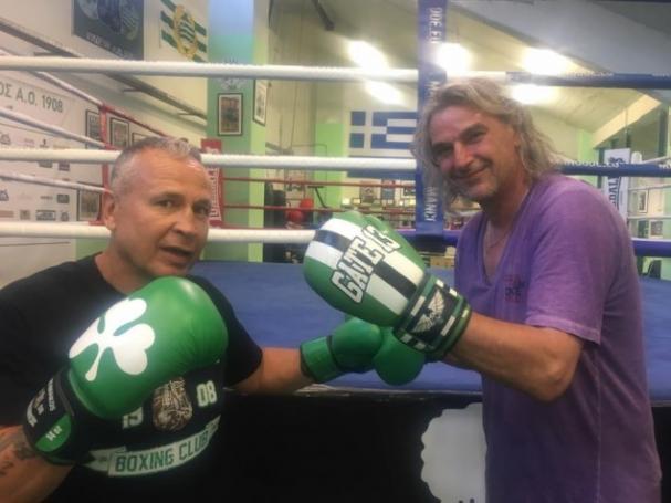 Φόρεσε τα γάντια του μποξ ο Καλιτζάκης! (pics) | Panathinaikos24.gr