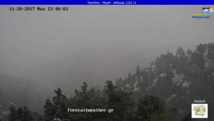 Χιονίζει στην Πάρνηθα | Panathinaikos24.gr