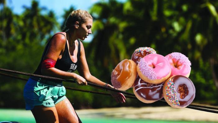 Σόου μεγατόνων από τη Σπυροπούλου για ένα donut: Έπεσε πάνω στο έπαθλο πριν καν το κερδίσουν (Vid) | panathinaikos24.gr