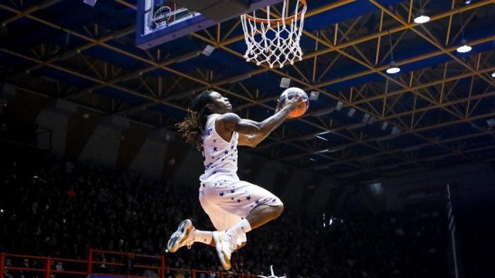 «Πέταξε» πάνω από τον Θανάση και κέρδισε τον διαγωνισμό καρφωμάτων ο Μούντι! (vids)   panathinaikos24.gr