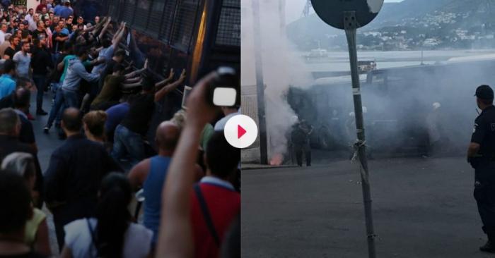 Σοβαρά επεισόδια στη Λέσβο – Συγκρούσεις κατοίκων με τα ΜΑΤ (pics&vid) | panathinaikos24.gr