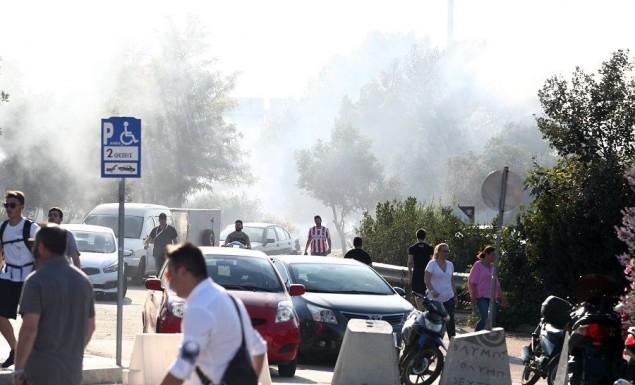 Τρεις αστυνομικοί τραυματίες από τα επεισόδια στο ΣΕΦ | panathinaikos24.gr