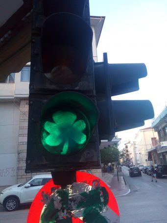 Απίθανο: Φανάρια με σήμα το τριφύλλι στην Καρδίτσα! (pics) | panathinaikos24.gr