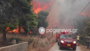 Εκτακτο: Σπίτι τυλίγεται στις φλόγες στην Κινέτα (vid)