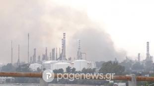 Συναγερμός: Φωτιά κοντά στα διυλιστήρια της Κορίνθου! (pics)