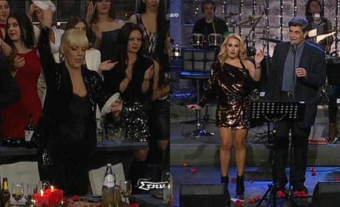Η Σάσα Σταμάτη πέταξε πιάτο που πέτυχε την Τζένη Μπότση η οποία χόρευε (vid) | panathinaikos24.gr