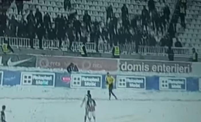 Επιτέθηκαν με… χιονόμπαλες στον βοηθό οι οπαδοί της Παρτιζάν! (vid) | panathinaikos24.gr