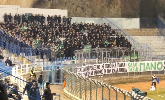 Video: «Πρασίνισε» το ΔΑΚ Λαμίας από τους φίλους του Παναθηναϊκού   panathinaikos24.gr