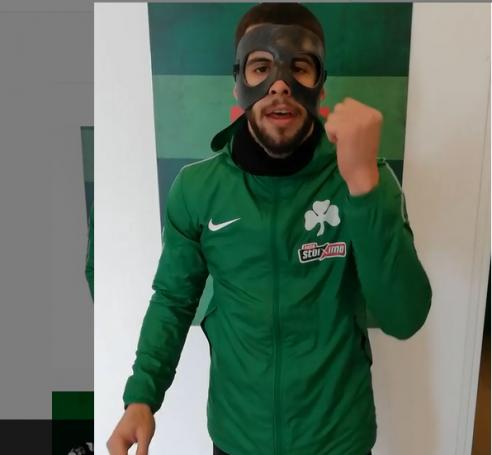 Ινσούα με μάσκα: «Πάμε Πανάθα»! (vid)   panathinaikos24.gr