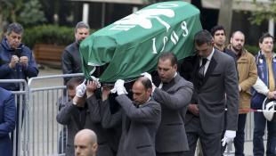 Με σημαία του Παναθηναϊκού το τελευταίο «αντίο» στον Θανάση Γιαννακόπουλο (pics)