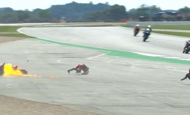 Τρομακτικό ατύχημα για Κουαρταραρό και Ντοβιτσιόζο- Άρπαξε φωτιά η Ducati! (vid) | panathinaikos24.gr