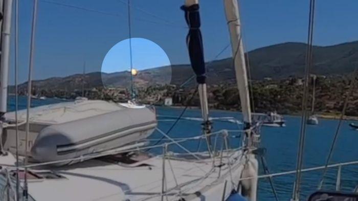 Βίντεο-σοκ: Η στιγμή που το ελικόπτερο πέφτει στα καλώδια στον Πόρο και εκρήγνυται! | panathinaikos24.gr