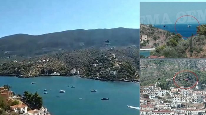Ελικόπτερο – Πόρος: Φωτογραφίες από τη στιγμή της πτώσης (pics)   panathinaikos24.gr