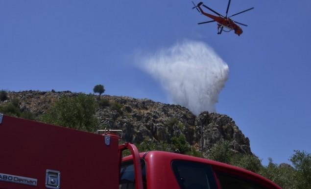 Φωτιά στη Σαλαμίνα – Προληπτική εκκένωση οικισμού | panathinaikos24.gr