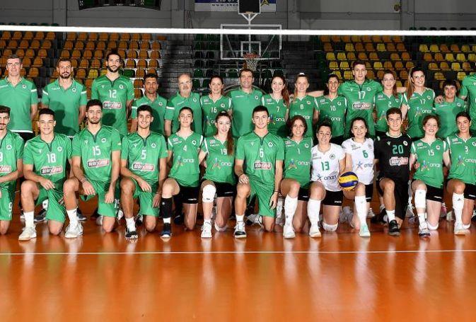 Η πράσινη media day στο βόλεϊ ανδρών και γυναικών | panathinaikos24.gr