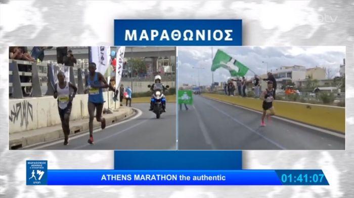 Φανταστικές στιγμές στον Μαραθώνιο: Καπνογόνα για τον αθλητή του Παναθηναϊκού που φίλησε το τριφύλλι! (vid) | panathinaikos24.gr