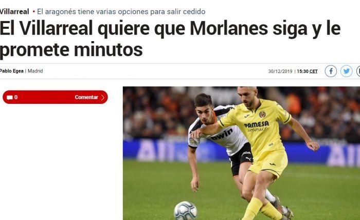 Το δημοσίευμα της Marca για τη διάθεση της Βιγιαρεάλ να κρατήσει Μορλάνες | panathinaikos24.gr