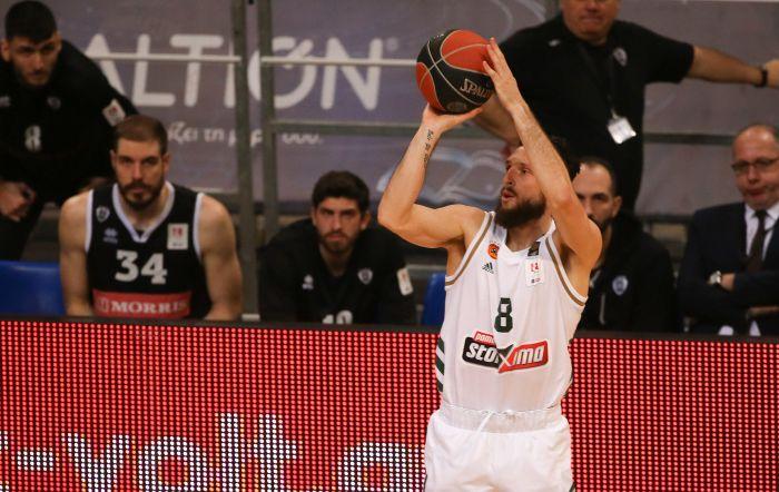 Ασύλληπτο: Έπαιζε… ρολόι ο Ράουτινς με επτά τρίποντα κόντρα στον ΠΑΟΚ! (vid, pics)   panathinaikos24.gr