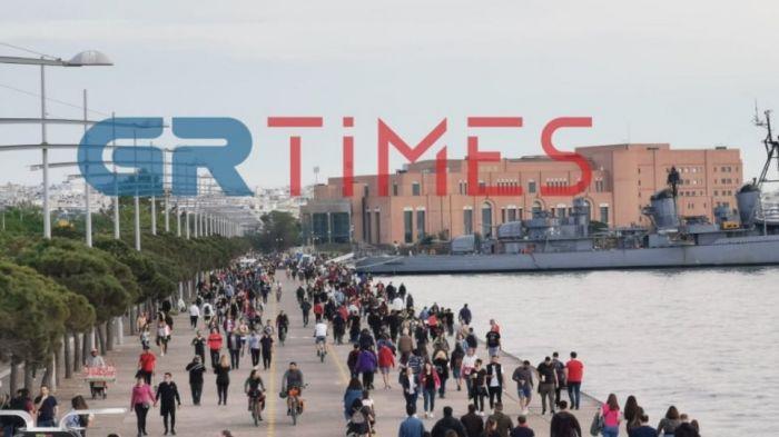 «Βούλιαξε» από κόσμο η Νέα Παραλία στη Θεσσαλονική (Pics) | panathinaikos24.gr