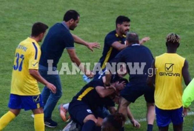 Video: Μπουκέτα μεταξύ παικτών στο… φιλικό Παναιτωλικός-Λαμία! | panathinaikos24.gr