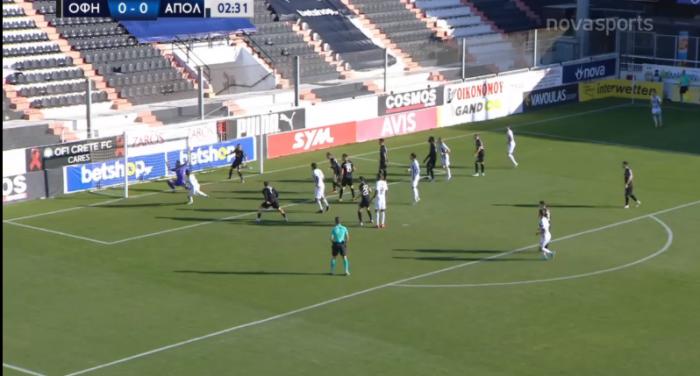 ΟΦΗ-Απόλλων: 0-1 με το… καλημέρα ο Φατιόν (vid) | panathinaikos24.gr