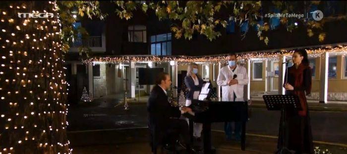 Συγκίνηση: Ο Στέφανος Κορκολής παίζει πιάνο και τραγουδά έξω από το νοσοκομείο «Σωτηρία» (vid)   panathinaikos24.gr