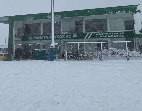 Παναθηναϊκός: Ματαιώθηκε η προπόνηση λόγω χιονόπτωσης (pics)   panathinaikos24.gr