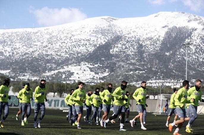 Παναθηναϊκός: Σε χιονισμένο τοπίο η προπόνηση στο Κορωπί (pics)   panathinaikos24.gr