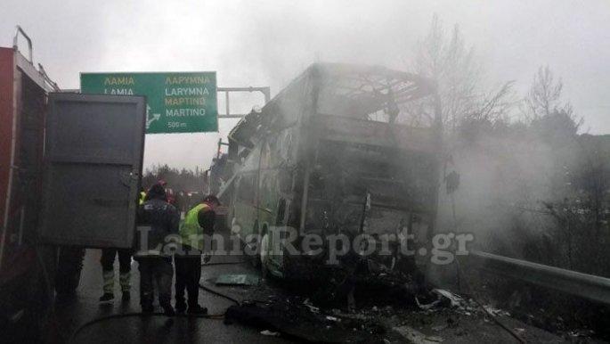Κάηκε λεωφορείο του ΚΤΕΛ Θεσσαλονίκης – Τρόμος για τους 48 επιβάτες   panathinaikos24.gr