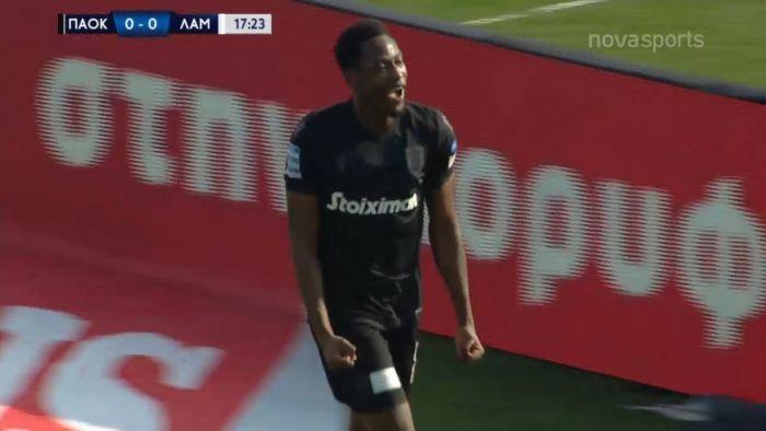 ΠΑΟΚ-Λαμία: 1-0, γκολ στο ντεμπούτο του ο Μπάμπα (vid) | panathinaikos24.gr