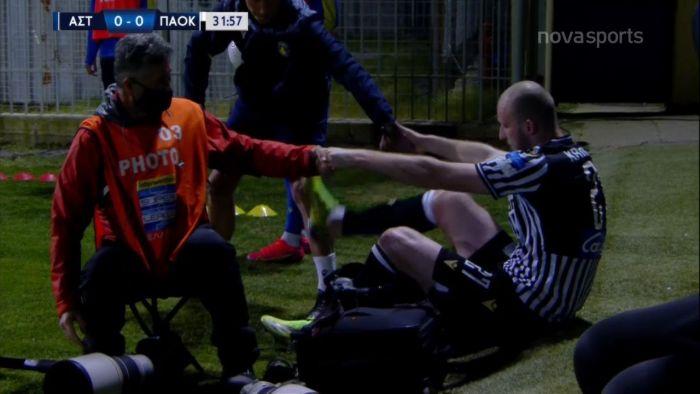 Αστέρας Τρ.-ΠΑΟΚ: Ένας φωτογράφος… γκρέμισε τον Κρμέντσικ! (vid) | panathinaikos24.gr