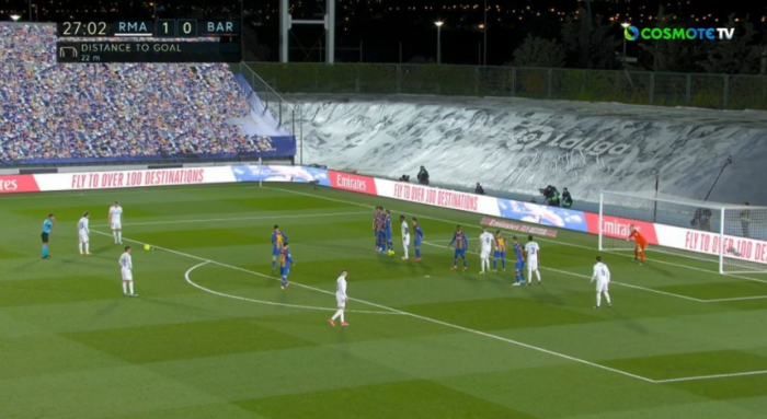 2-0 η Ρεάλ με απευθείας φάουλ του Κρός (vid) | panathinaikos24.gr