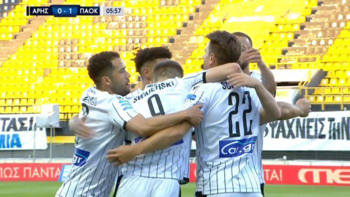 Άρης-ΠΑΟΚ: Τρομερή ασίστ Σφιντέρσκι, 0-1 Σβαμπ (vid) | panathinaikos24.gr
