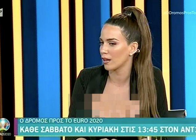 Κατερίνα Στικούδη: Πήγε στην εκπομπή για το EURO με το πιο βαθύ ντεκολτέ [vid] | panathinaikos24.gr