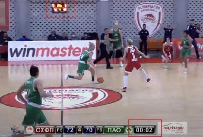 Ντοκουμέντο: Το ματς κρίθηκε από το… λάθος χρονόμετρο! | panathinaikos24.gr